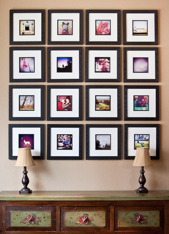 Instagram displays...I'd like to do one of these with pics from Penny's first year!