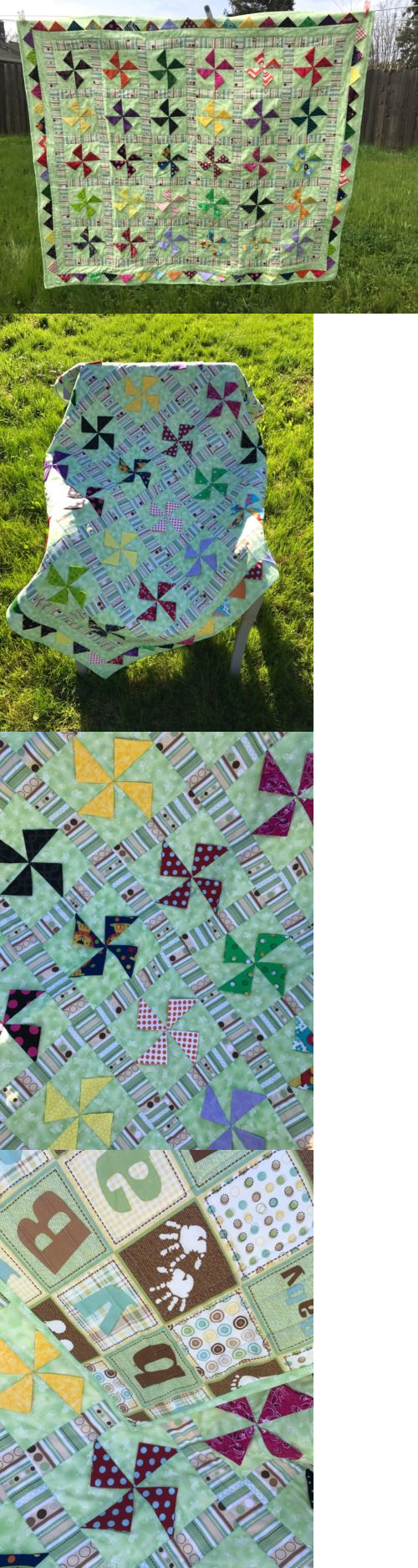 Crib size quilts for sale - Quilts 116649 New Green Baby Handcrafted Baby Lap Crib Quilt 46 X 52