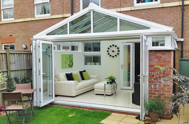 Conservatory extension extension ideas pinterest for Conservatory doors exterior