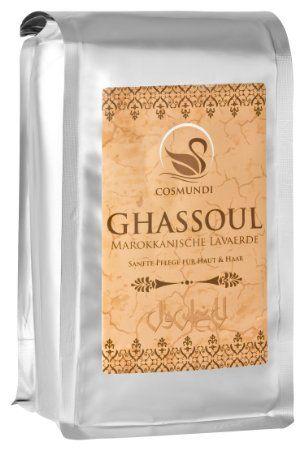 cosmundi Ghassoul Marokkanische Lavaerde - mineralische Tonerde zur Haar-/Körperpflege, Gesichtsmaske und Peeling 1 kg