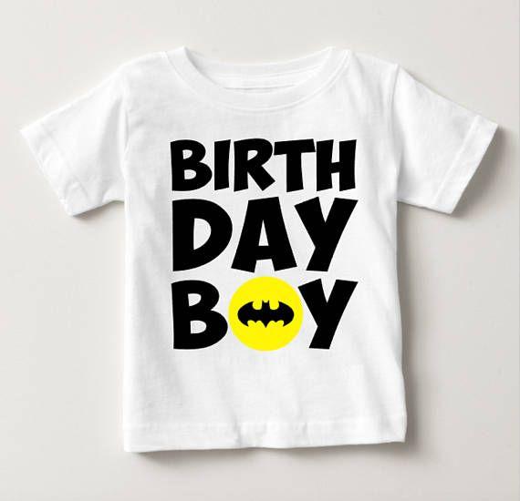 Personalized Superhero Birthday Boy T Shirt