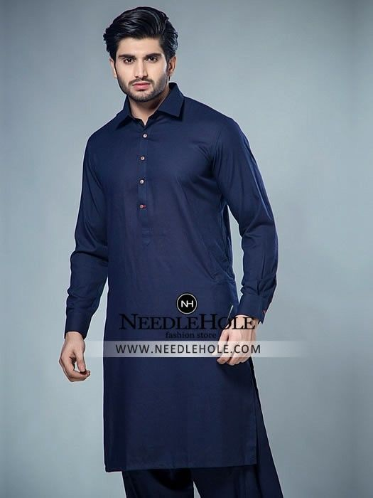 Marvelous Pakistani salwar kameez suit for men in navy http\/\/www - plana k amp uuml chen preise