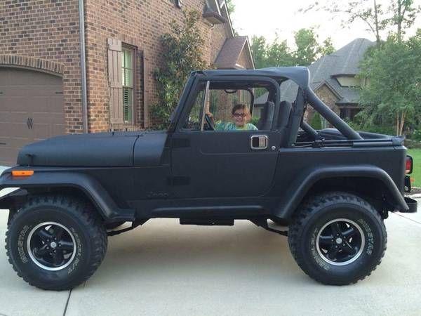 Alert Stolen 1988 Jeep Wrangler Flat Black Paint Tag Kht 703
