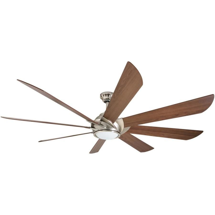 Harbor Breeze Hydra 70 In Brushed Nickel Indoor Ceiling Fan With Light Kit And Remote 8 Blade Lowes Com Ceiling Fan With Light Fan Light Ceiling Fan