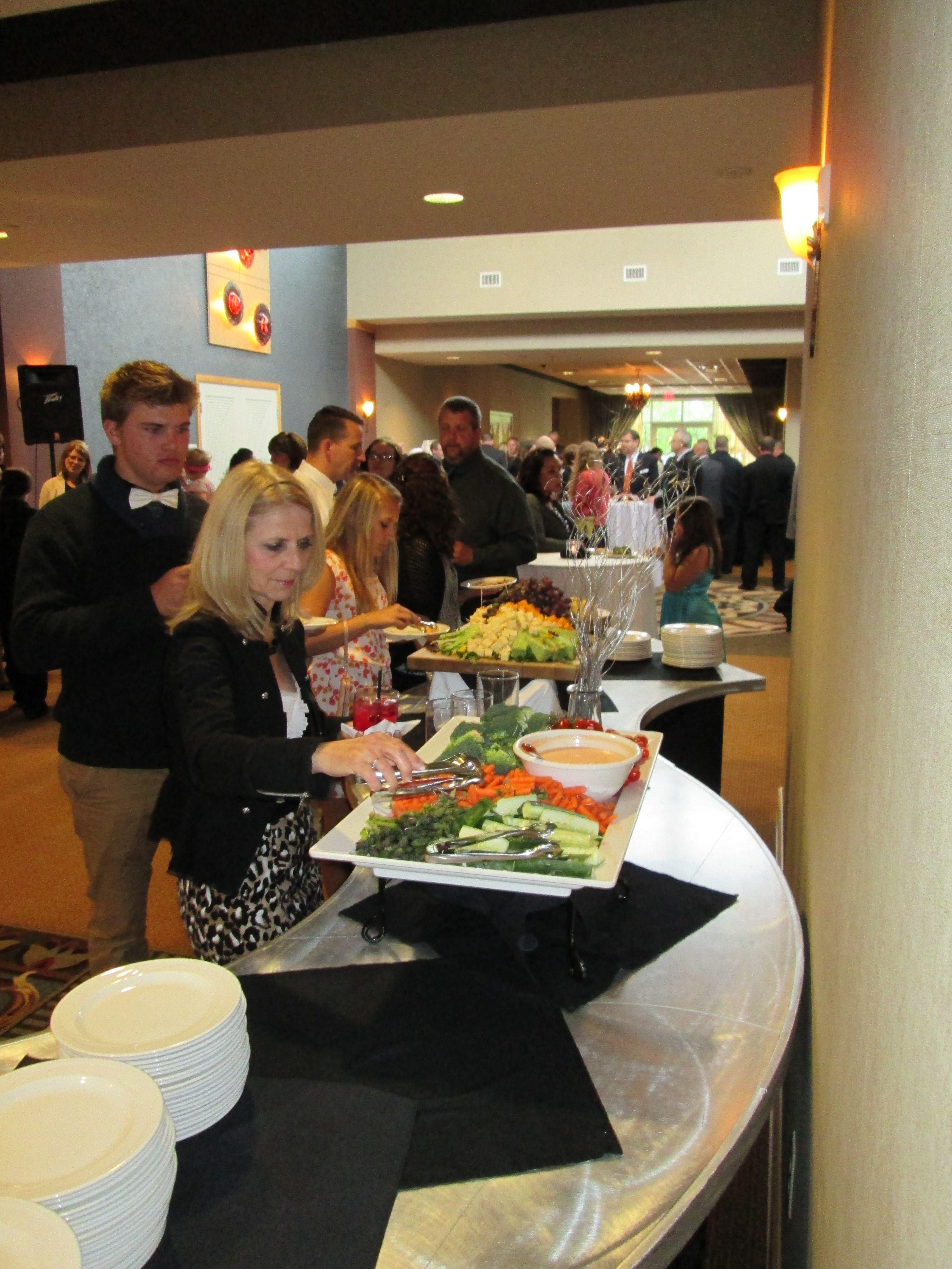 Wedding reception at the Hilton Garden Inn Perrysburg, Ohio- foyer ...