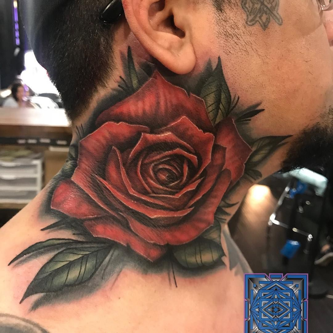 35 Beautiful Rose Tattoos Tattoo Inspiration Neck Tattoo Neck Tattoo For Guys Rose Tattoos For Men