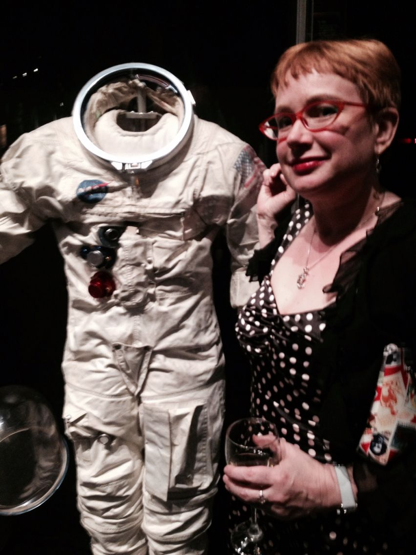 a176abea698 Polka Dot dress, wine and Apollo Astronaut space suit. | My Style ...