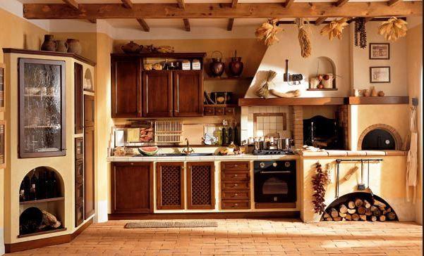Cocina rustica con horno a 601 364 casa for Estufas a lena rusticas