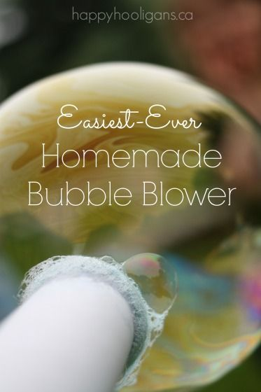 Make the easiest-ever homemade bubble blower out of a cardboard kitchen roll! - HH