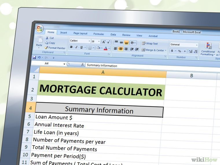 Create A Mortgage Calculator With Microsoft Excel  Microsoft