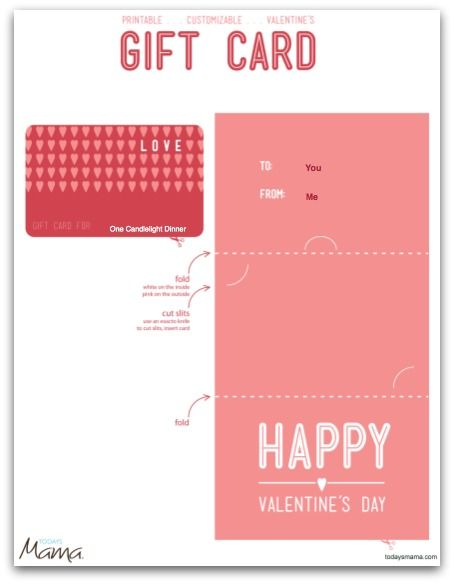 Printable Valentine Gift Certificate Template  Gift Certificate