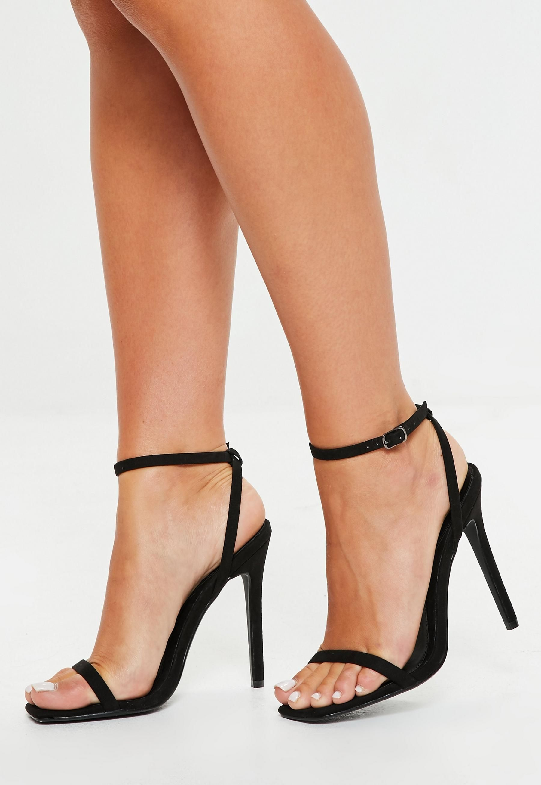 8eb17a88f1fc Missguided Black Barely There Heels in 2019