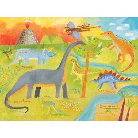 Oopsy Daisy - Dinoscape Canvas Wall Art 24x18, Donna Ingemanson ...