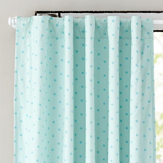 Polka Dot Blackout Curtains (Aqua) | The Land Of Nod    If These