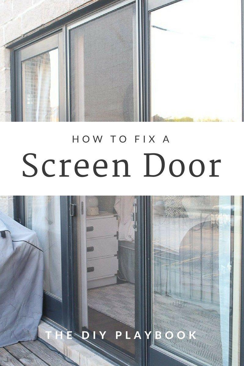 How to fix a screen door easy diy repairs diy playbook