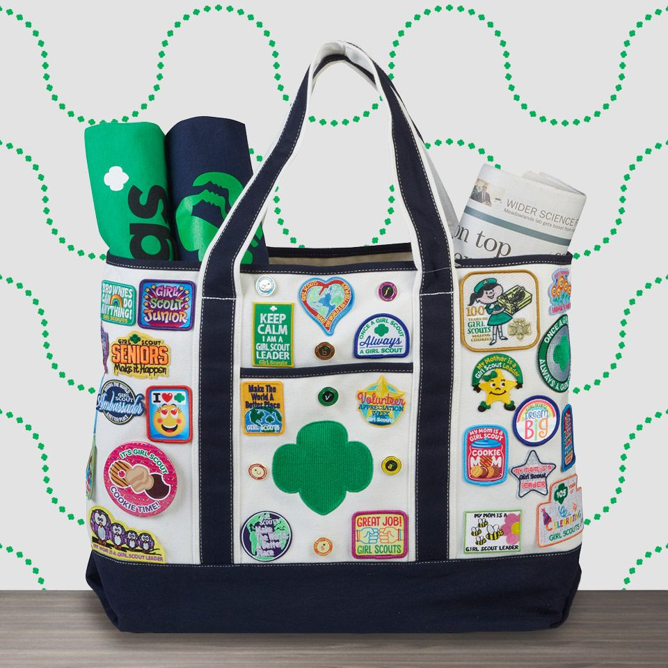 Give Your Volunteer Or Leader A Stylish Tote Bag To Show Off All Their Patches Sold Separately Swag Scouts Scoutleaders