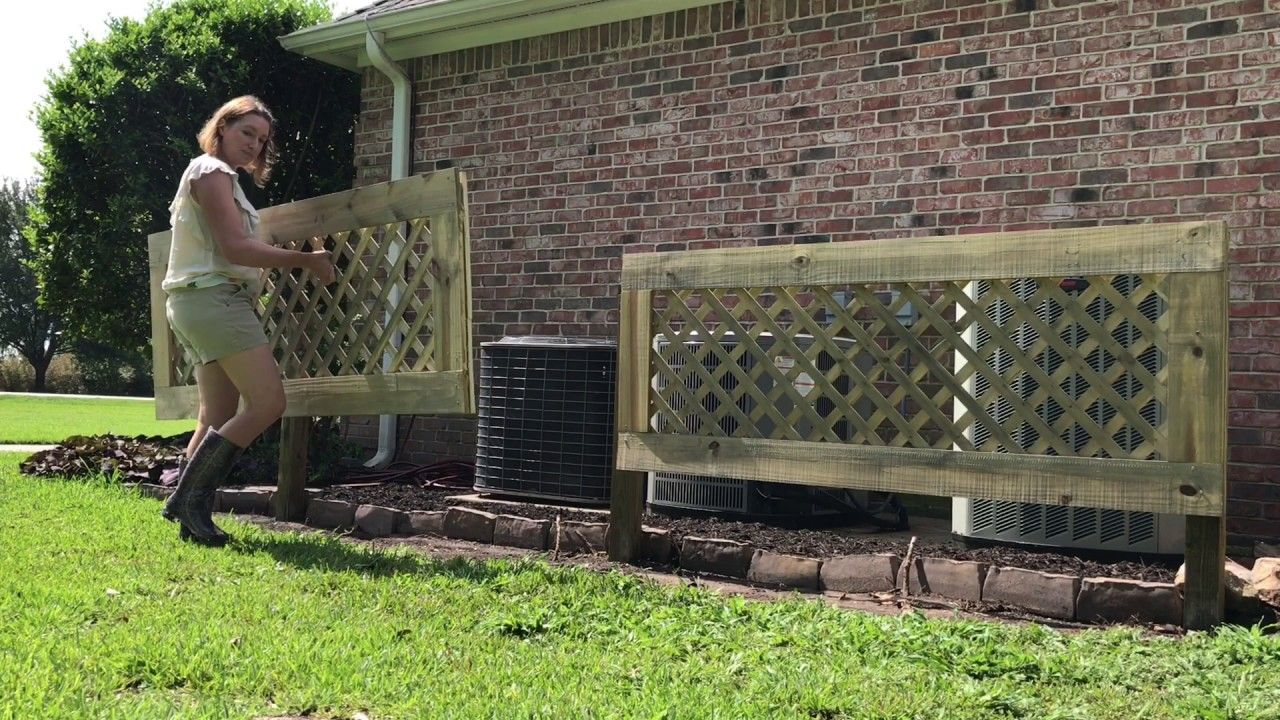 Build a removable screen to hide your Air Conditioners