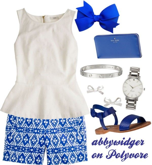 """""""Peplum and royal blue"""" by abbywidger ❤ liked on Polyvore"""