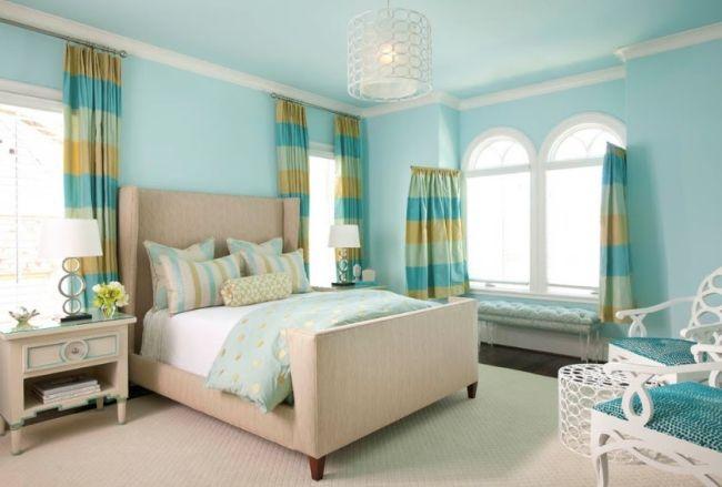 Jugendzimmer mädchen modern blau  ideen jugendzimmer mädchen frisch hellblau grün farbem ...