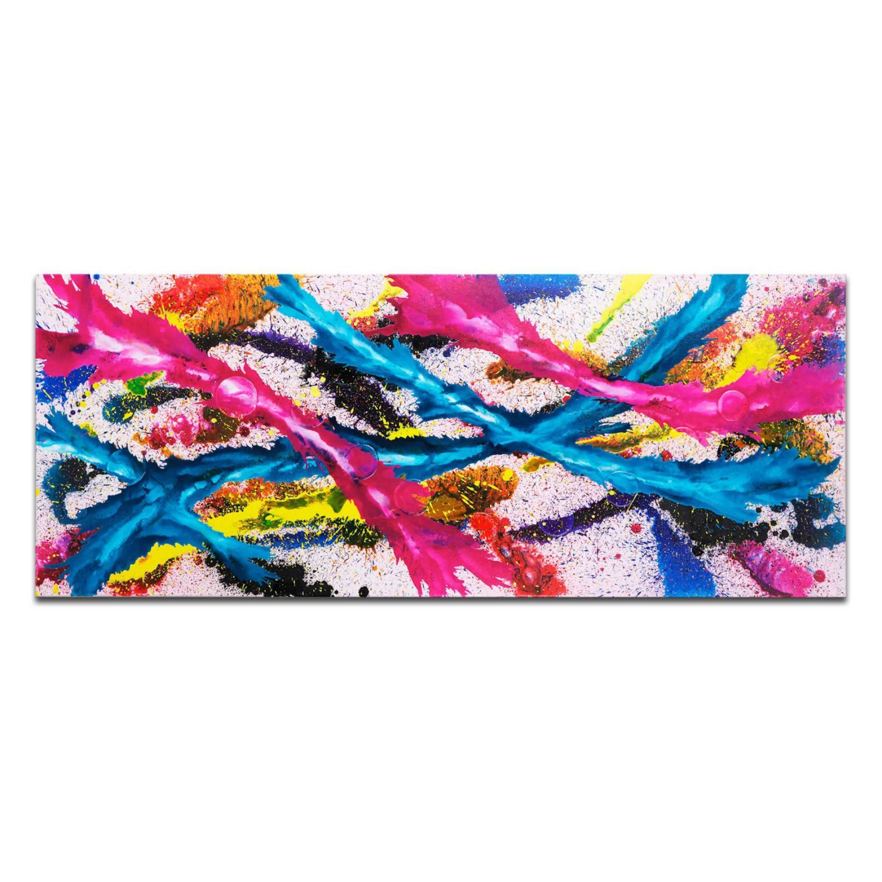 Metal art studio color splash wall art mvmt colour splash
