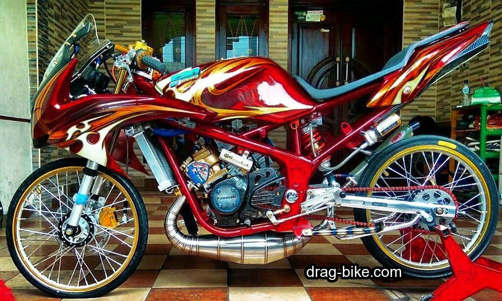 55 Foto Gambar Modifikasi Ninja Rr Kontes Street Racing Drag Bike