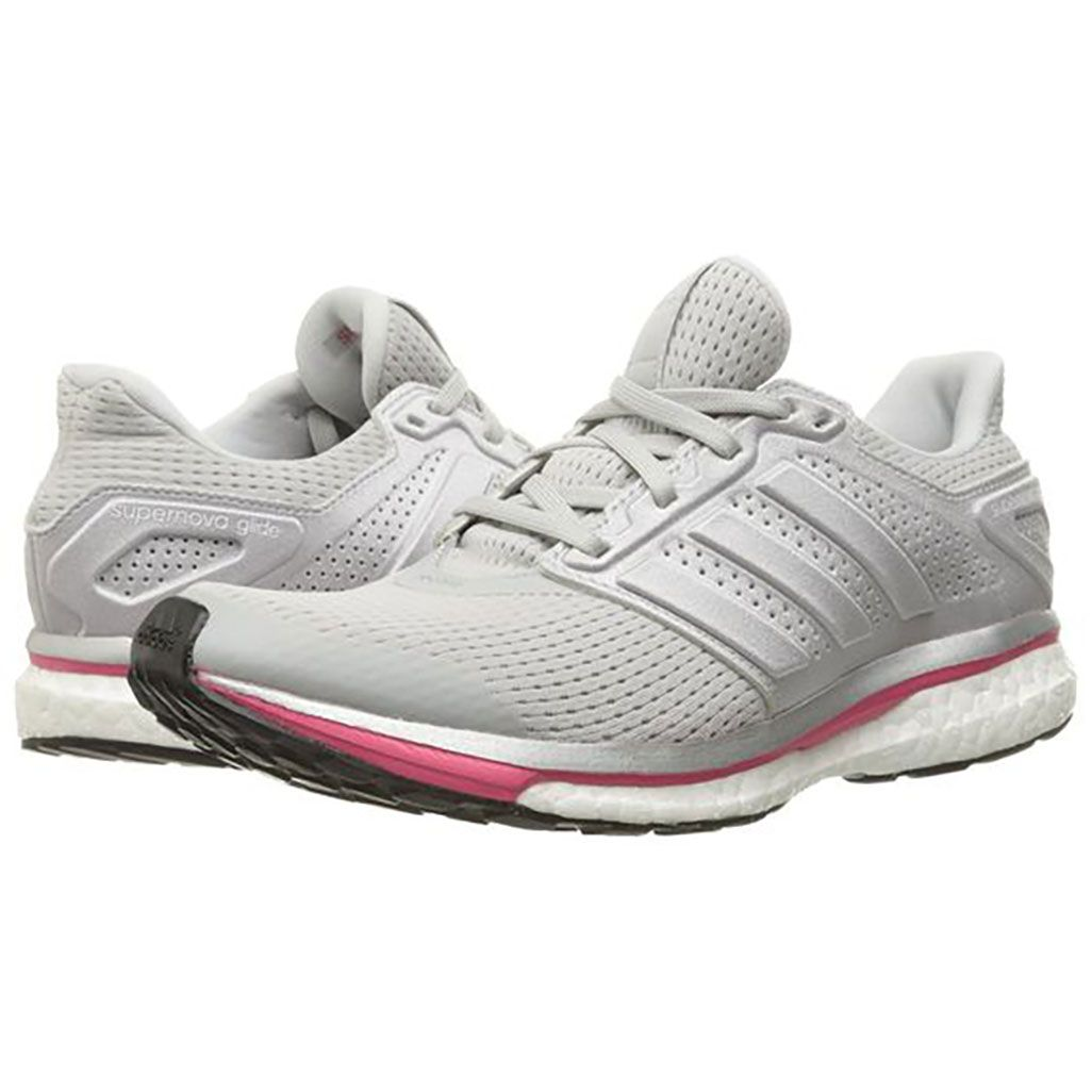 Buy Womens Running Shoes - Adidas Supernova Glide 8 W Solid Grey/Silver/Pink