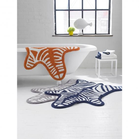 Animal Print Rugs Take The Growl Out Of Bath Time With Images