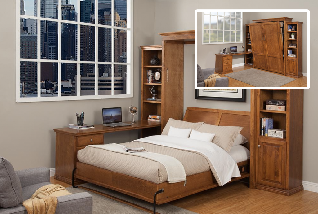 The Verona wallbed has the perfect design for a working
