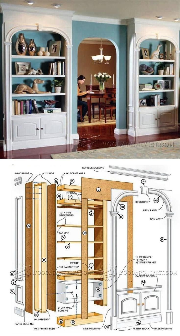 Clic Arch Top Bookcases Plans Furniture And Projects Woodarchivist