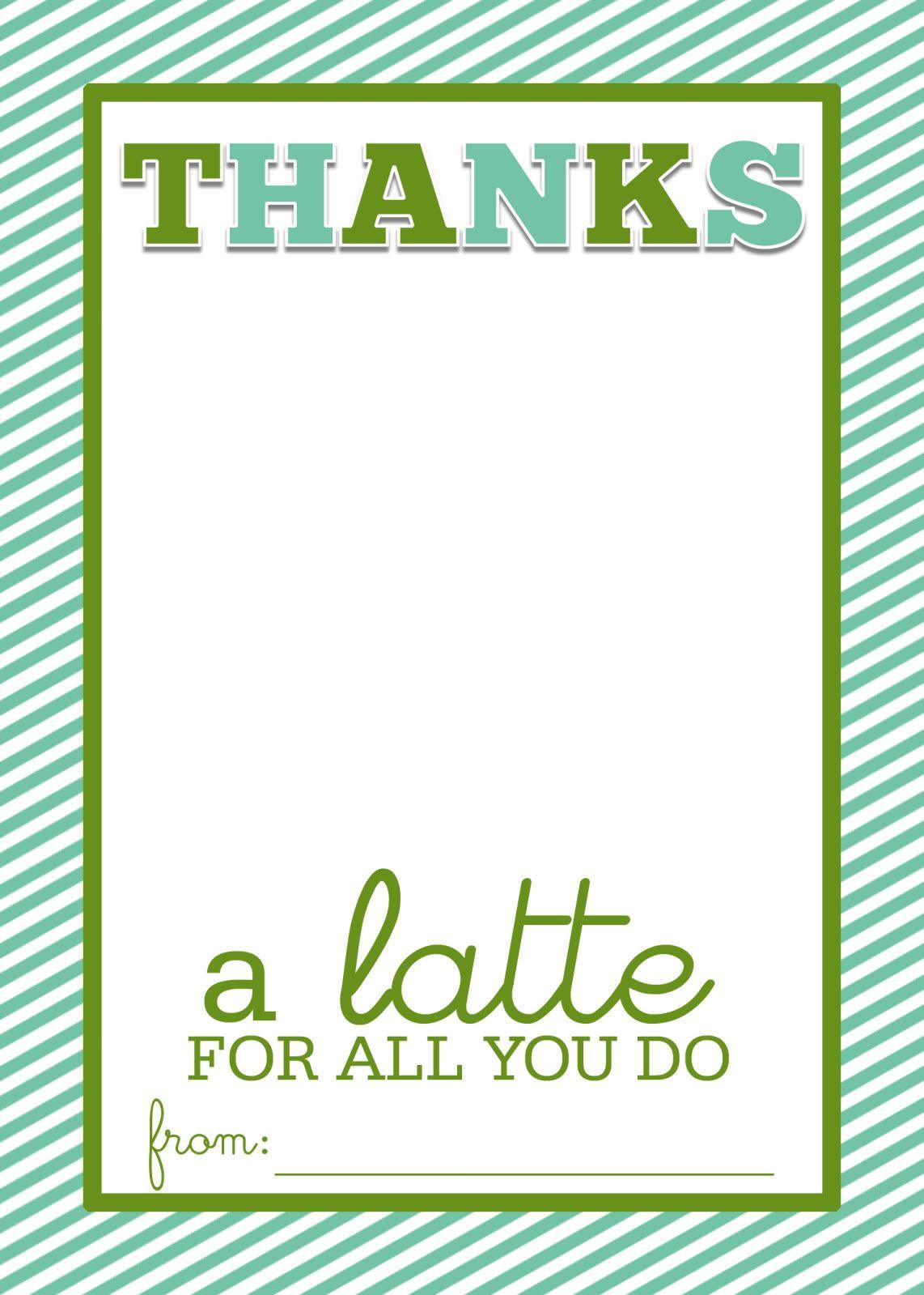 Easy teacher gift craft thanks a latte starbucks gift