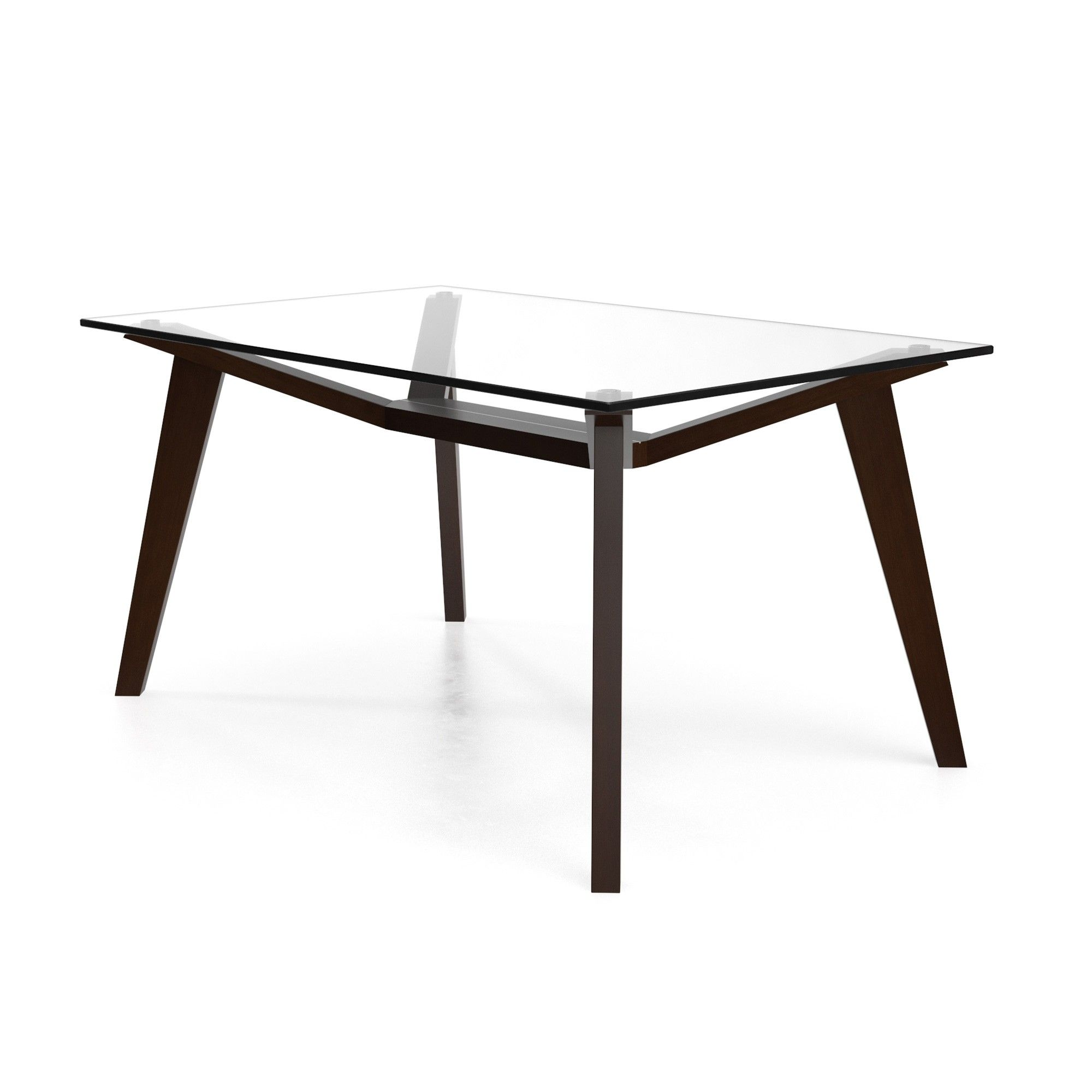Lavinia Rectangular Dining Table with Glass Top Coffee ...