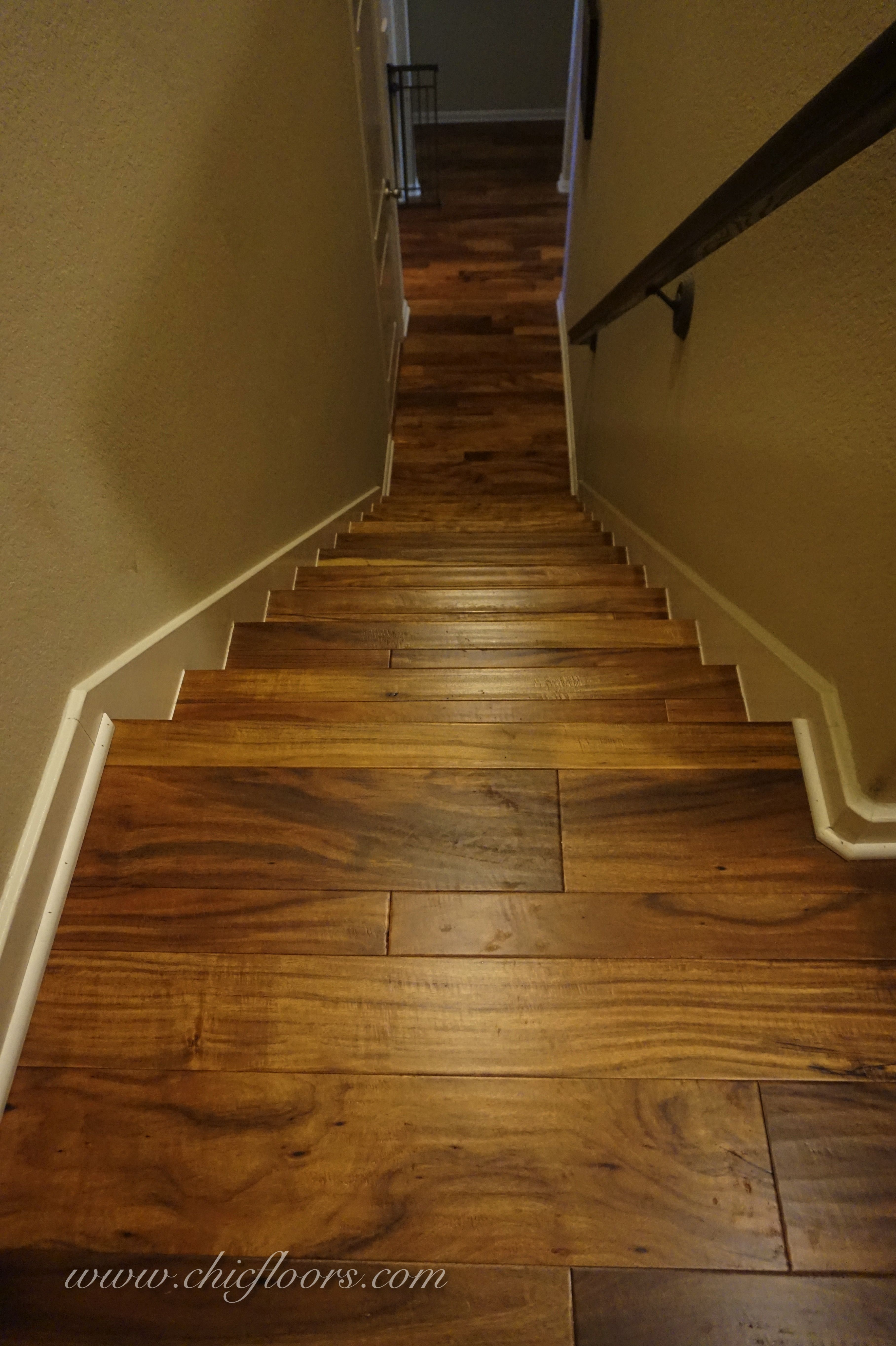 Best Acacia Hardwood Mixed Width On Staircase Staircase 400 x 300
