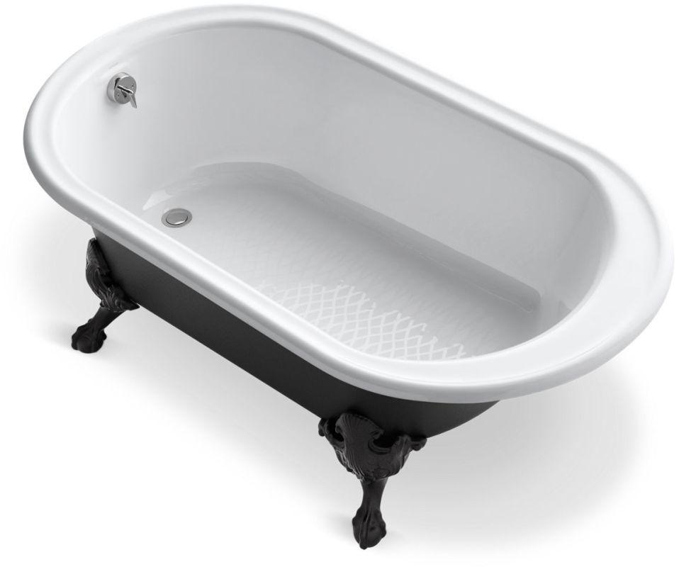 Kohler K 710 P5 Clawfoot Bathtub Claw Foot Bath Black Exterior