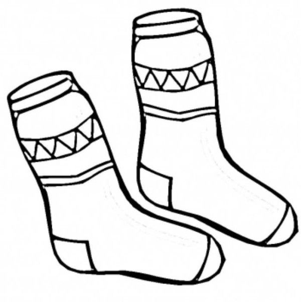 Socks Winter Clothes Coloring Page Coloring Pages Winter Free