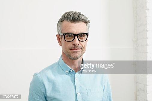 Stock-Foto : Portrait of a successful man in an office.