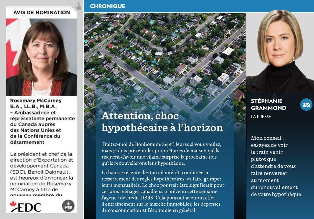 Attention Choc Hypothecaire A L Horizon La Presse Periodic Table