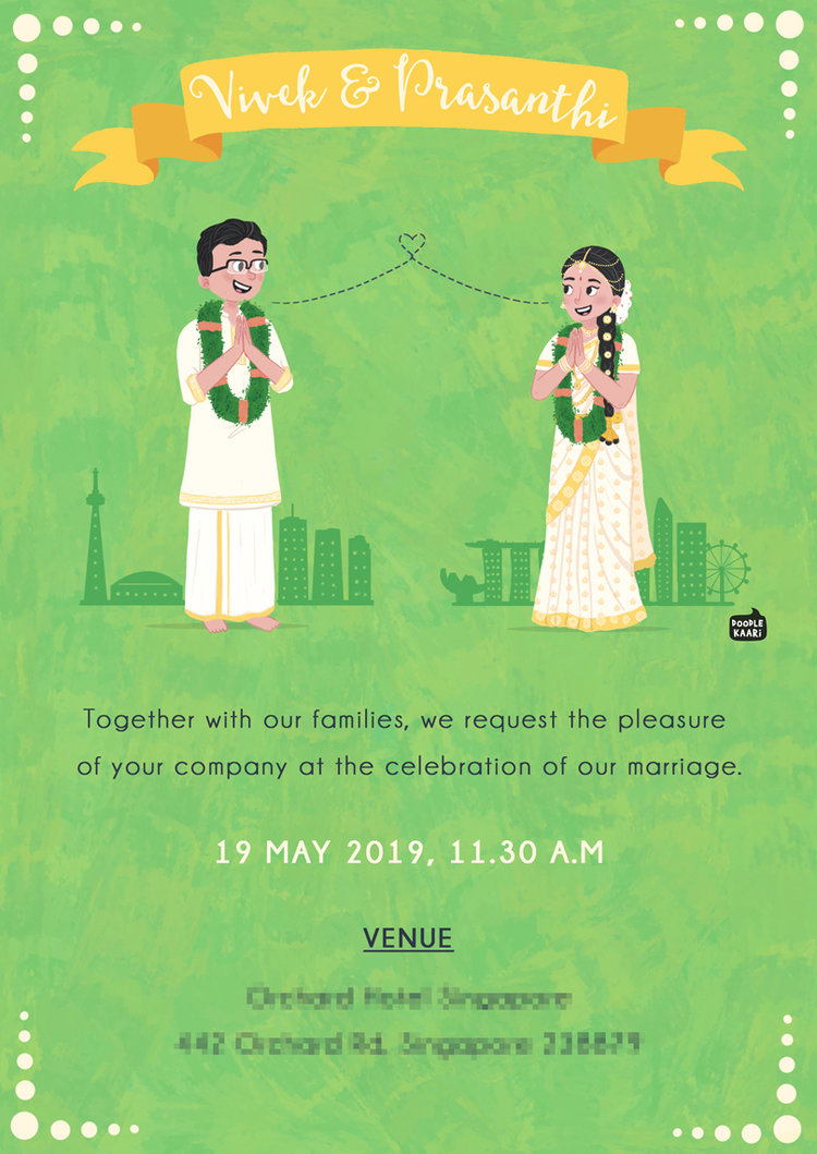 Custom Illustrated Wedding Invite 48 Wedding Weddinginvite Custom Illustrated Wedding Invitations Caricature Wedding Invitations Hindu Wedding Invitations