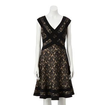 Expo Lace Flouce-Hem Dress - Women's