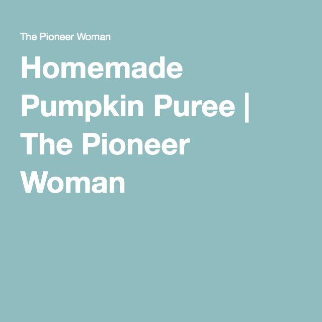 Homemade Pumpkin Puree | The Pioneer Woman