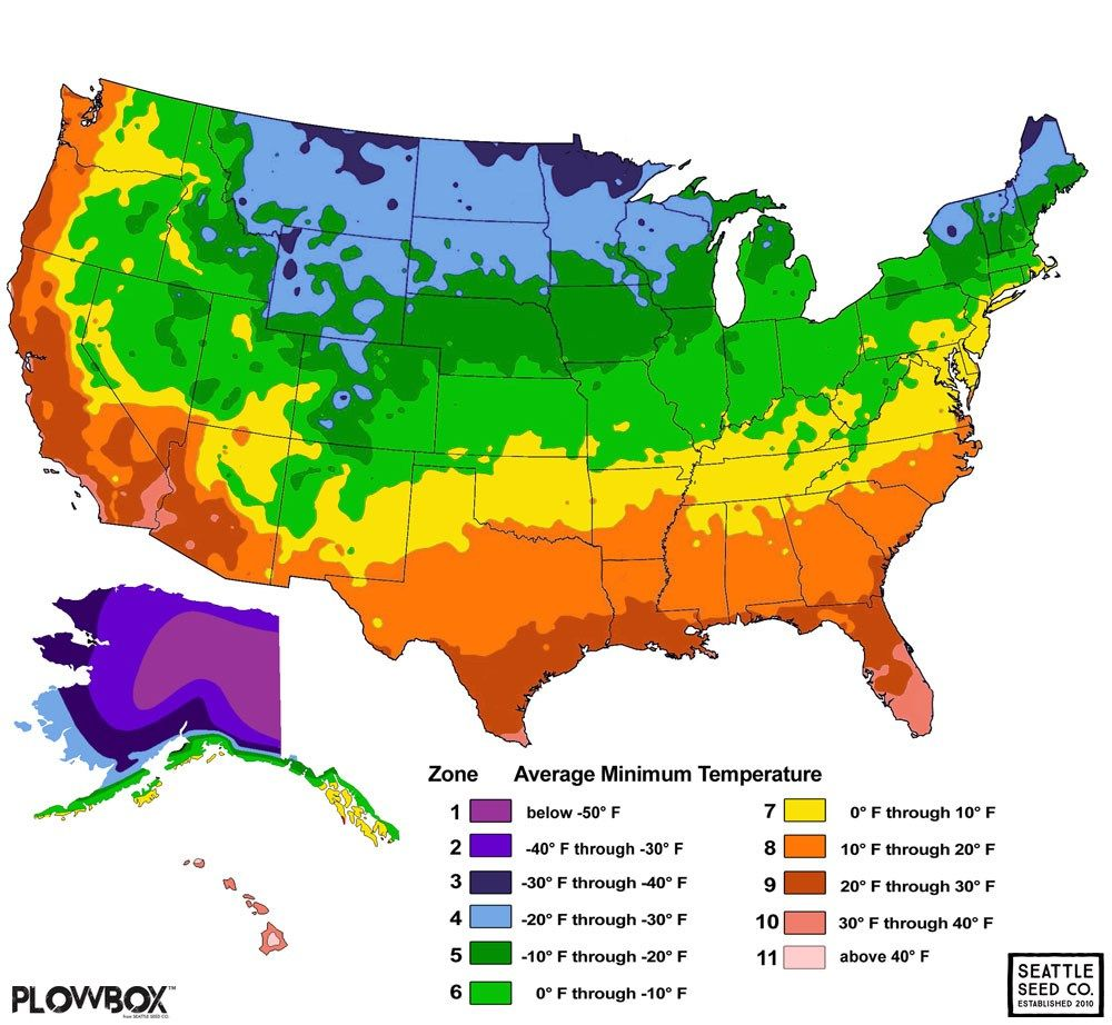 Hardiness Zones And Succulents Gardening Zone Map Growing Zones Map Planting Zones Map