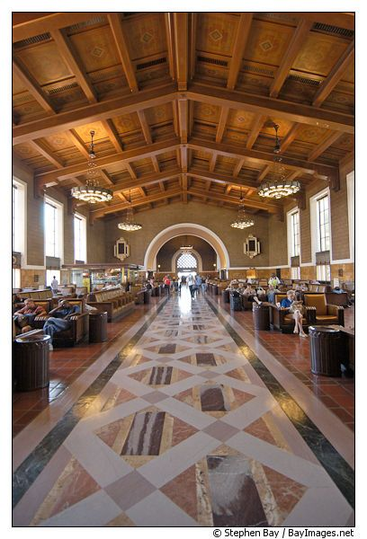 Picture Interior Of Union Station Los Angeles California Usa Union Station Los Angeles Railroad Station
