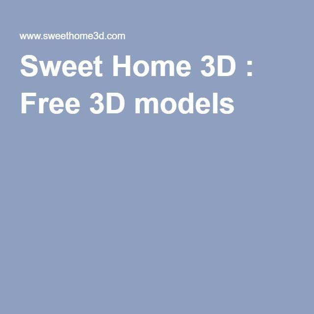 Free 3d Models Model 3d Model Sweet Home