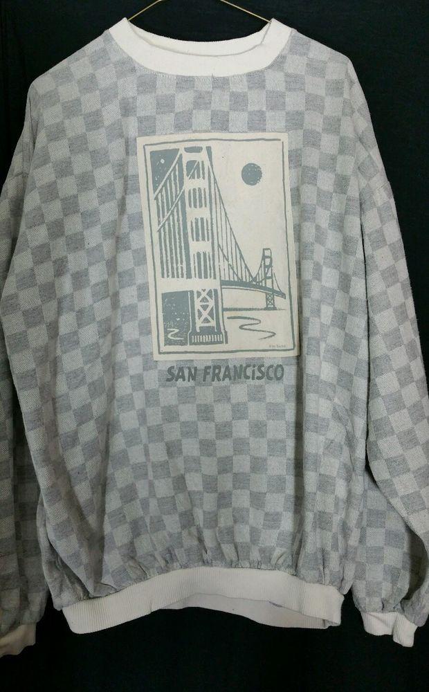 San Francisco Golden Gate Bridge Sweatshirt Top Extra Large XL Taylor #Taylor #Crewneck