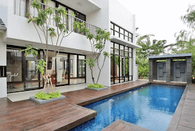 rumah minimalis dengan kolam renang kecil | rumah