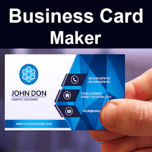 Business Card Maker Visiting Card Maker Photo Logo Pro V5 5 Latest Photomaker Business Card Maker Visiting Card Maker Art Business Cards