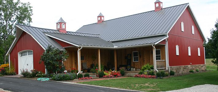 Pole barn houses on pinterest for Barn house plans kits