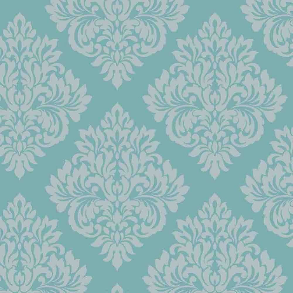 Amazon.com   Decorline Sparkle Damask Wallpaper Teal / Silver   Vanity? Teal  WallpaperLiving Room ... Part 75