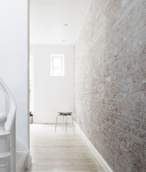 Pin By Cindylitwin On Spaces Brick Interior White Wash Brick Brick Interior Wall