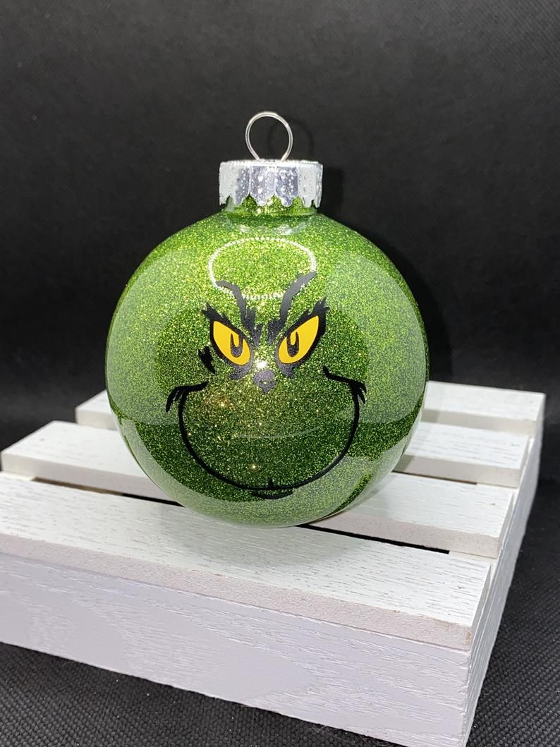 Grinch Ornament Etsy In 2020 Grinch Ornaments Ornaments Handmade Ornaments