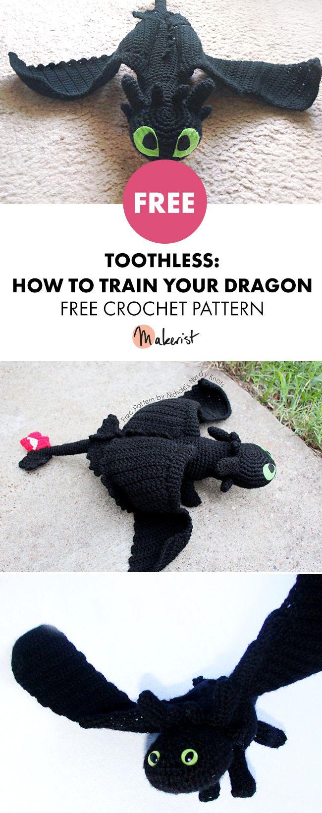 Toothless - Free Crochet Pattern #crocheting #crochet # ...